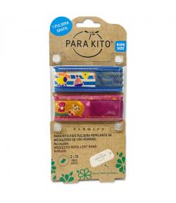 Pulsera Antimosquitos KIDS E 3-7 años 2uds PARAKITO
