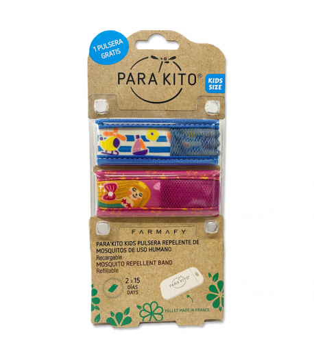 Pulsera Antimosquitos KIDS E 3-7 años 2uds PARAKITO Repelentes
