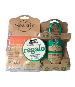 Pulsera Antimosquitos Naranja + Spray Repelente 75ml PARAKITO Repelentes