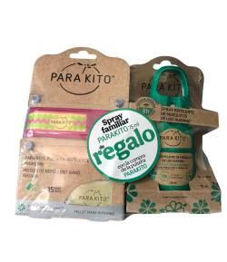 Pulsera Antimosquitos Rosa + Spray Repelente 75ml PARAKITO Repelentes