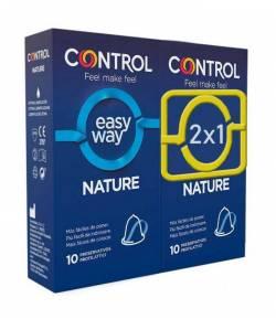 Duplo 2x1 Preservativos Easy Way Nature CONTROL 10+10ud Preservativos