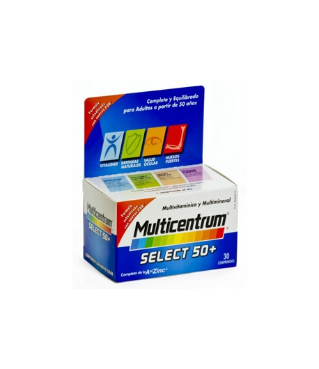 Multicentrum Select 50+ 30comp Energía