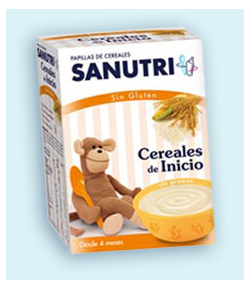 Cereales de Inicio SANUTRI 600gr Sin Glúten