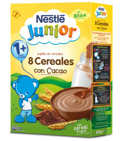 8 Cereales con Cacao 600gr NESTLE JUNIOR
