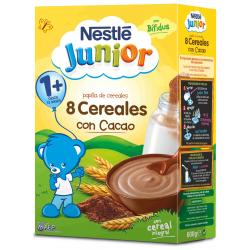 Nestlé Junior Papilla 8 Cereales con Cacao 600gr