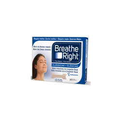 Tiras Nasales BREATHE RIGHT Clásicas T-PQ/M 30ud