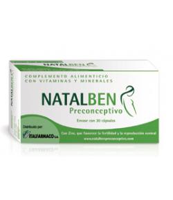 NATALBEN Preconceptivo 30caps Vitaminas