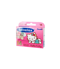 Apósitos Infantiles Hello Kitty 14ud SALVELOX Apósitos