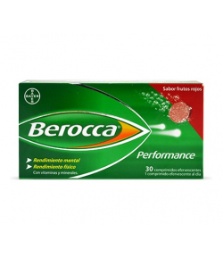 Berocca Performance Frutos Rojos 30comp efervescentes