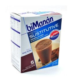 Batido de Chocolate Sustitutive BIMANAN 5+1ud