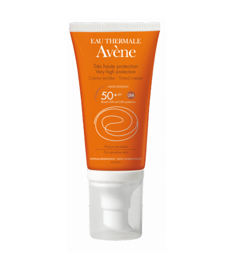 Crema Coloreada SPF 50+ AVÈNE 50ml Protección solar