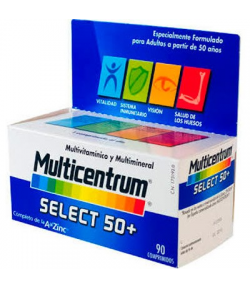 Multicentrum Select 50+ 90comp Energía