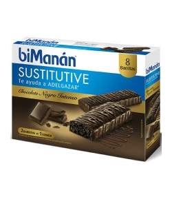 Barritas Chocolate Intenso Sustitutive BIMANAN 8ud Sustitutivos