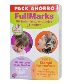 Pack Loción Antipiojos 100ml + Champú 150ml FullMarks Piojos