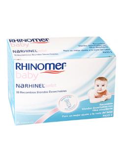 Recambios Aspirador Nasal 10ud RHINOMER Baby Suero Fisiológico