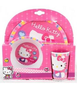 Vajilla Hello Kitty Melamina 3 Piezas