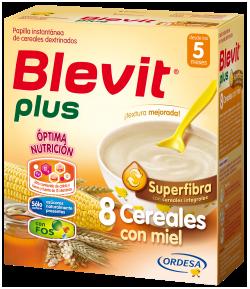 Blevit Plus Superfibra 8 Cereales con Miel 600gr