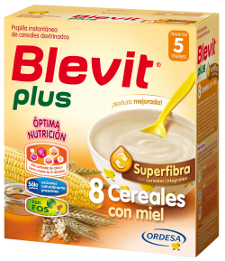Blevit Plus Superfibra 8 Cereales con Miel 600gr 8 Cereales