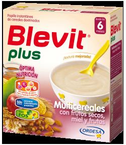 Blevit Plus Multicereales con Frutos Secos, Miel y Frutas 600gr 8 Cereales