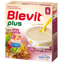 Blevit Plus Multicereales con Frutos Secos, Miel y Frutas 600gr