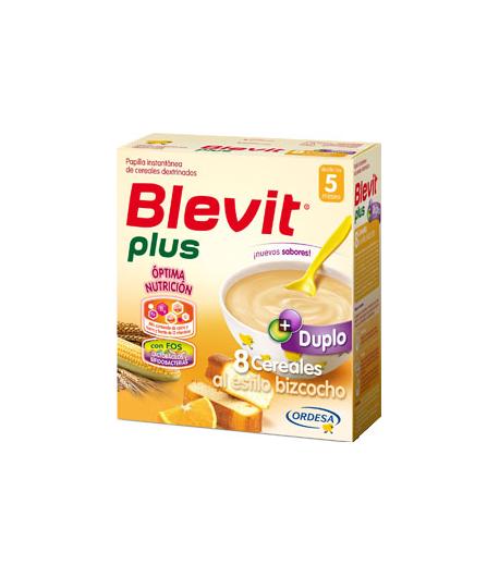 Blevit Plus Duplo 8 Cereales al Estilo Bizcocho 600gr 8 Cereales