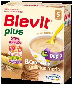 Blevit plus Duplo 8 Cereales y Galletas María 600gr