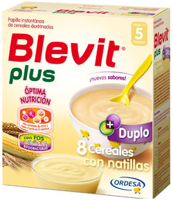Blevit Plus Duplo 8 Cereales con Natillas 600gr 8 Cereales