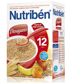NUTRIBÉN Copos de Trigo y Frutas 750gr 8 Cereales