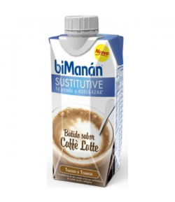 Batido Caffé Latte BIMANAN SUSTITUTIVE 330 ml