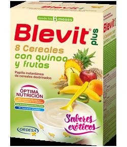 Blevit Plus 8 Cereales, Quinoa y Frutas 300gr Infantil
