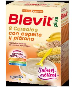 Blevit Plus 8 Cereales, Espelta y Plátano 300gr Infantil