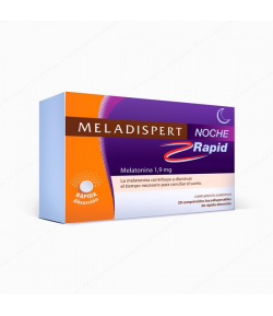 Melatonina MELADISPERT Noche Rapid 20 comp bucodispersables