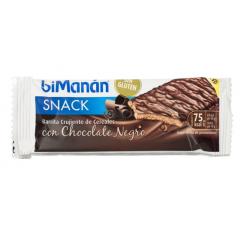 Barrita Crujiente de Cereales Chocolate Negro BIMANAN SNACK 1ud