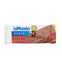 Barrita Crujiente de Cereales Chocolate con Leche BIMANAN SNACK 1ud Entre Horas