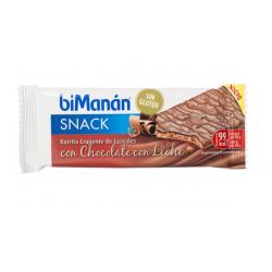 Barrita Crujiente de Cereales Chocolate con Leche BIMANAN SNACK 1ud