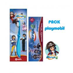 Pack PLAYMOBIL Pasta Dentífrica 75ml + Cepillo de Dientes + Figura KIN