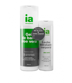 Pack Gel 750ml + Leche Aloe Vera 400ml INTERAPOTHEK Gel de ducha
