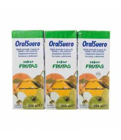Bi-Oral Suero Frutas 3x200ml Tránsito Intestinal