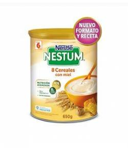 Papilla Nestum 8 Cereales con Miel 650gr NESTLE 8 Cereales