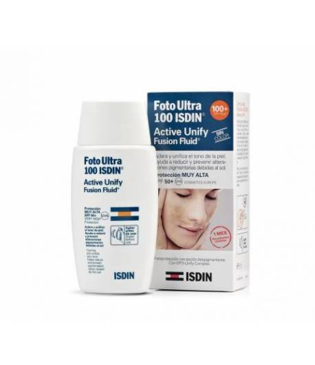 Fotoprotector Active Unify Fusion Fluid 100+ ISDIN 50ml Protección solar
