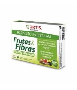 Frutas & Fibras - Doble Acción BIO ORTIS 24ud Tránsito Intestinal