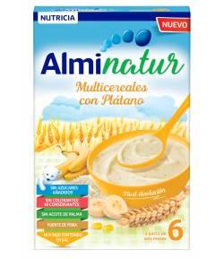 ALMINATUR Multicereales con Plátano 250gr 8 Cereales