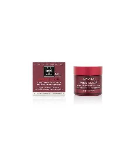 Crema Antiarrugas & Reafirmante con Efecto Lifting – Textura Rica 50ml WINE ELIXIR APIVITA Antiedad