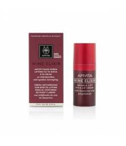 Crema Antiarrugas con Efecto Lifting para el Contorno de Ojos y Labios 15ml WINE ELIXIR APIVITA