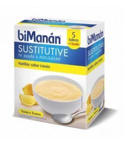 Natillas Limón Sustitutive BIMANAN 5+1ud