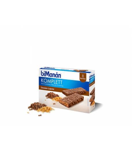 Barritas Chocolate Crujiente Komplett BIMANAN 8ud Entre Horas