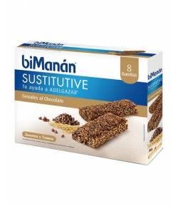 Barritas de Cereales con Pepitas de Chocolate BIMANAN 8ud Sustitutivos