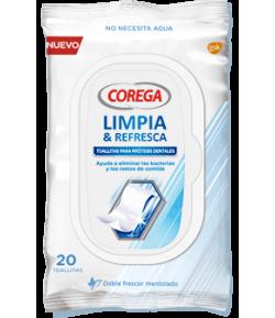 COREGA Limpia y Refresca 20 toallitas Limpieza
