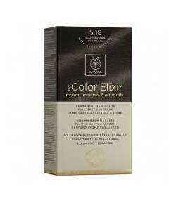 Tinte My Color Elixir 5.18 Castaño Claro Ceniza Perlado APIVITA Tintes