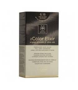 Tinte My Color Elixir 6.18 Rubio Oscuro Ceniza Perlado APIVITA Tintes